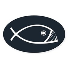 Evolution Fish Decal