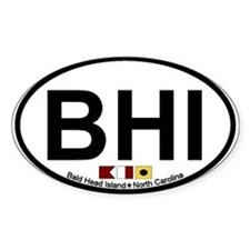 Bald Head Island NC - Oval Design Decal