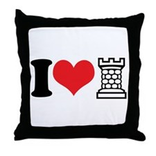 I Love Castle Throw Pillow