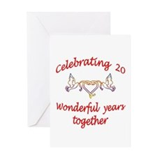 celebrating 20 years Greeting Cards