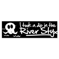 I Took a Dip in the River Styx Bumper Sticker