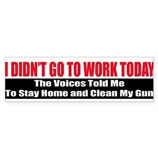 I Didn't Go To Work Today Bumper Sticker