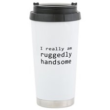 Rick Castle Ruggedly Handsome Ceramic Travel Mug