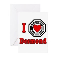 I Love Desmond LOST Greeting Cards (Pk of 10)