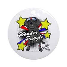 Wonder Puggle Ornament (Round)