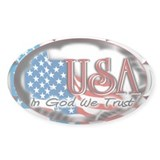 USA - In God We Trust - Oval  Aufkleber