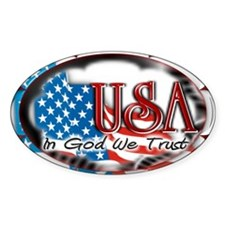 USA - In God We Trust - Oval Decal