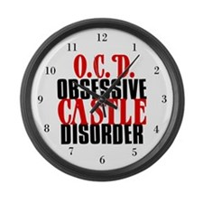 Obsessive Castle Disorder Large Wall Clock
