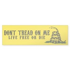 Don't Tread On Me 3 Bumper Sticker