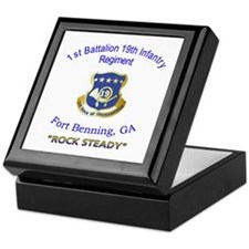 1st Bn 19th Inf Keepsake Box