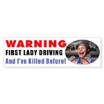 WARNING: First Lady Driving