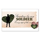 standing by my soldier Decal