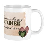 standing by my soldier Small Mug