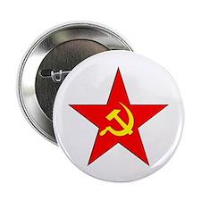 Hammer & Sickle Red Star Button