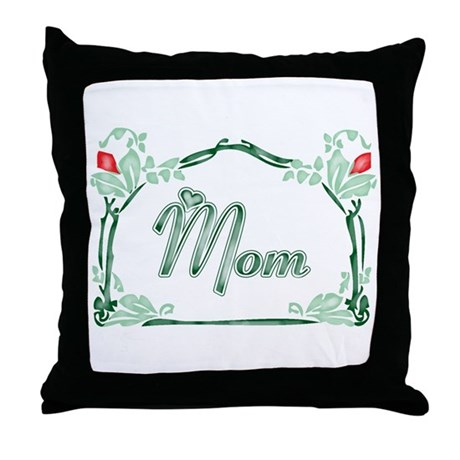 Mom Tattoo Style Throw Pillow