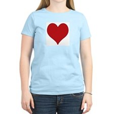 Red Heart Women's Pink T-Shirt