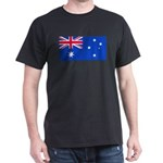 Australia Blank Flags Black T-Shirt