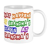 What Happens at Grandma's Sta Small Mugs