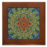 Spiral Fruit Mandala Framed Tile