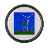 Bright Wind Turbine Large Wall Clock