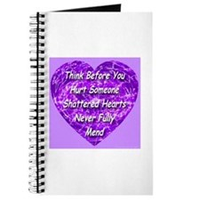 Shattered Heart Violet Journal