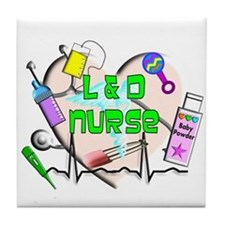 Labor & Delivery Nurse Tile Coaster