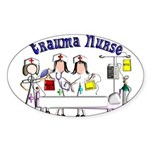ER/Trauma Sticker (Oval 50 pk)