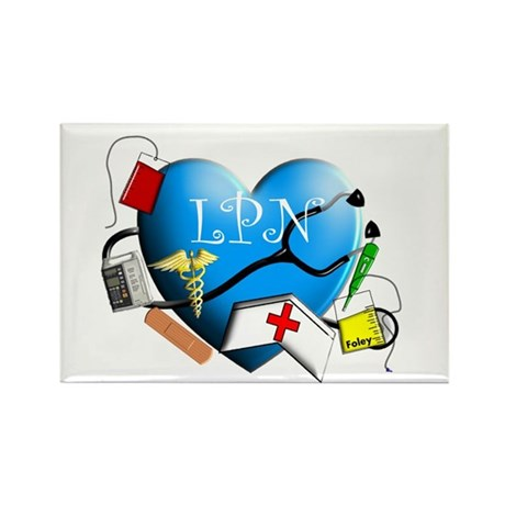 Licensed Practical Nurse Rectangle Magnet (100 pac