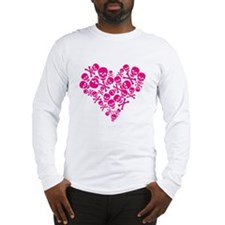 Heart Full of Skulls Long Sleeve T-Shirt