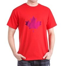 Pink Maple Leaf T-Shirt