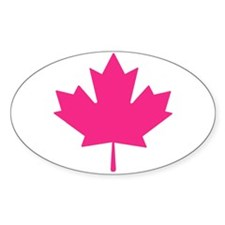Pink Maple Leaf Decal