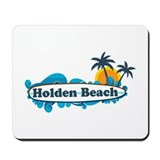 "Holden Beach NC ""Surf"" Design Mousepad"