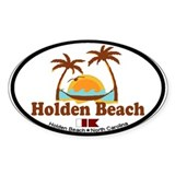 Holden Beach NC &quot;Sun and Palm Trees&quot; Design Sticke
