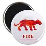 Fire Element Cougar Magnet