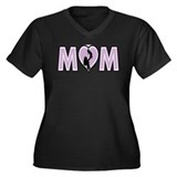 MOM with baby Gift for Mother Women's Plus Size V-