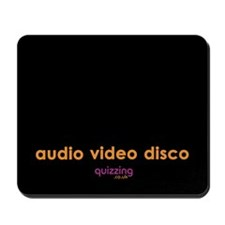 Audio Video Disco Mousepad - Approx £7.99
