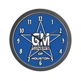 GMOH Blue Star Wall Clock
