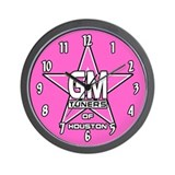GMOH Pink Star Wall Clock