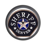 Denver Sheriff Wall Clock