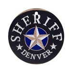 Denver Sheriff Ornament (Round)