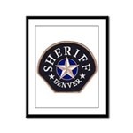 Denver Sheriff Framed Panel Print