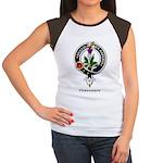 Fergusson Clan Crest Badge Women's Cap Sleeve T-Sh