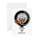 Duncan Clan Crest Badge Greeting Cards (Package of