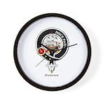 Duncan Clan Crest Badge Wall Clock