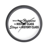 Whatever Happens - History Class Wall Clock