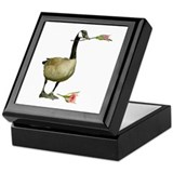 Canada Goose With Rose Keepsake Box