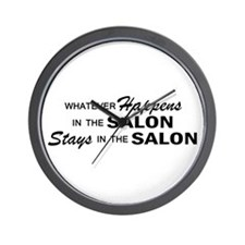 Whatever Happens - Salon Wall Clock