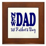 FIRST FATHER'S DAY Framed Tile