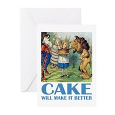 CAKE WILL MAKE IT BETTER Greeting Cards (Pk of 10)