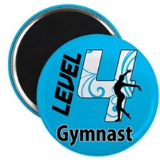 "Blue Level 4 Gymnast 2.25"" Magnet (100 pack)"
